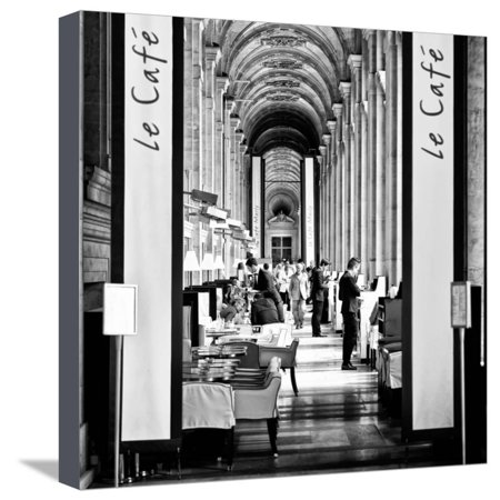 Museum Cafe - Modern Brewery, Cafe Marly, the Louvre Museum, Glass Pyramids, Paris, France Stretched Canvas Print Wall Art By Philippe Hugonnard