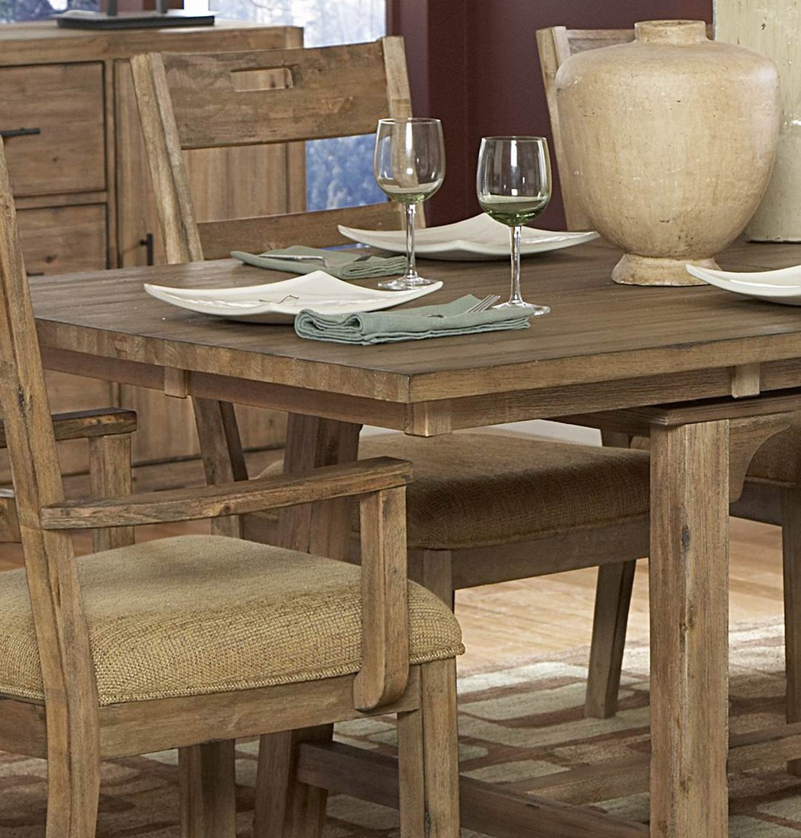Homelegance Oxenbury Fabric Side Chair in Driftwood