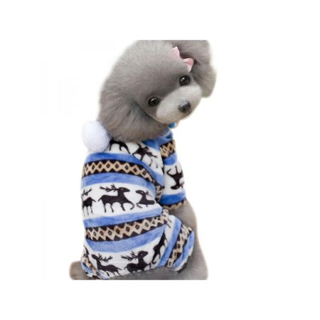 Lavaport Small Dog Puppy Pet Cat Hoodies Winter Coat Fleece Snowflake Clothes