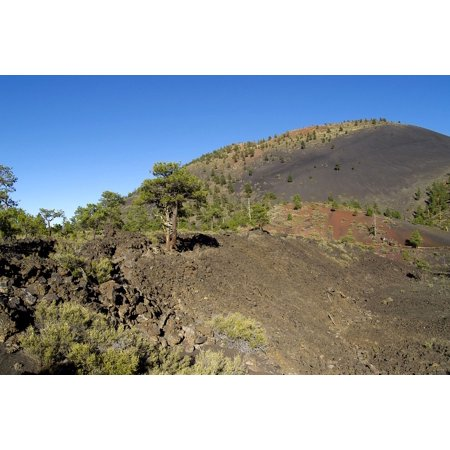 Canvas Print Volcano Arizona Wupatki Sunset Crater USA Stretched Canvas 10 x 14
