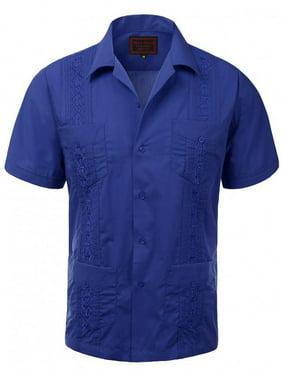8d87e43f8ff Product Image Guayaberas Men Short Sleeve Casual Cuban Beach Wedding  Button-Front Dress Shirts