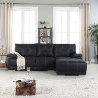 Product Image Clic Tufted Faux Leather Sectional Sofa