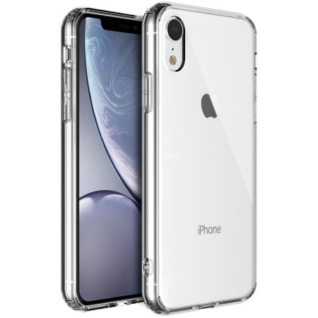 iPhone XR Crystal Clear Transparent TPU Bumpers and Hard Acrylic Back (Crystal Clear Bumper)