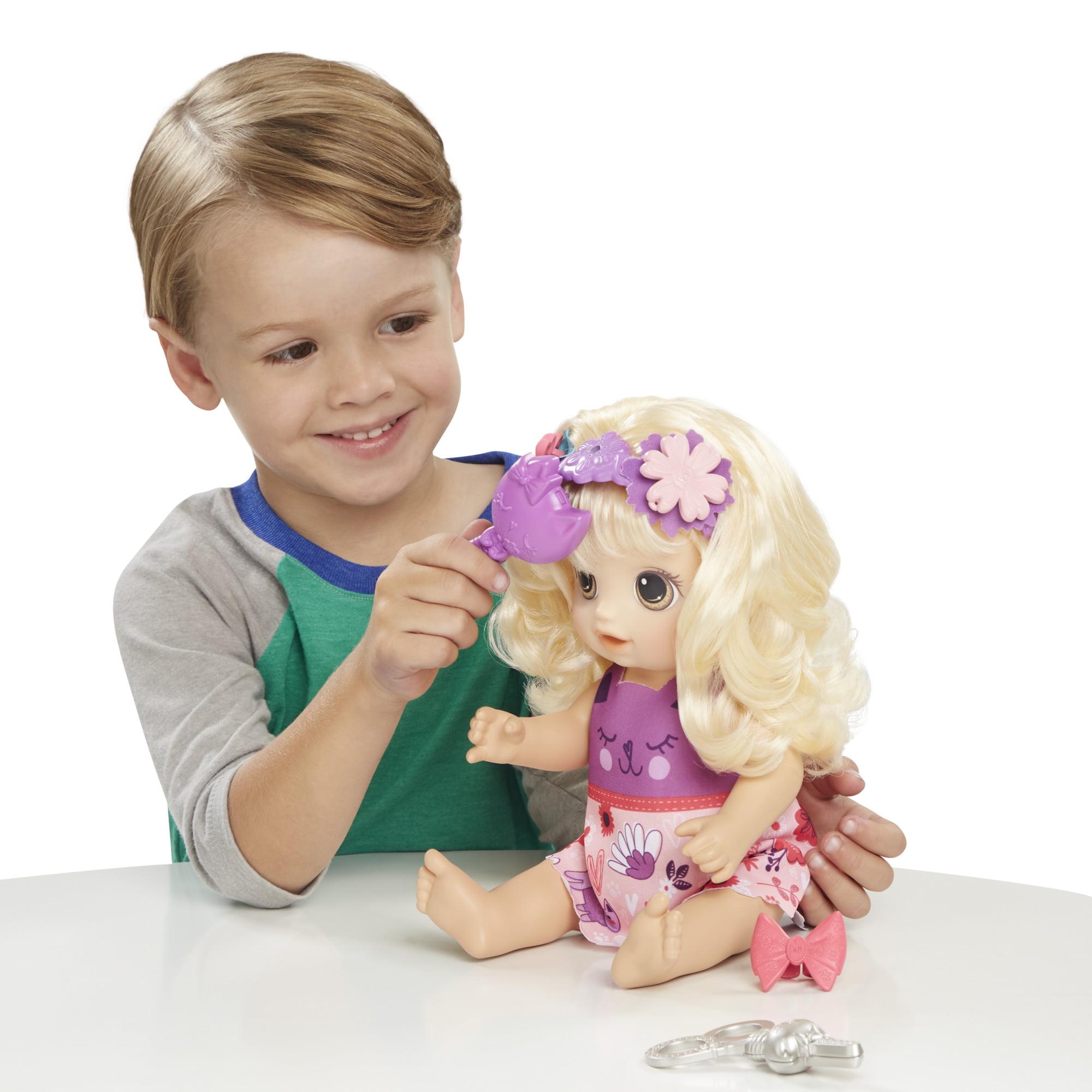 Baby Alive Snip N Style Baby Blonde Hair Talking Doll With Bangs That Grow Walmart Com Walmart Com