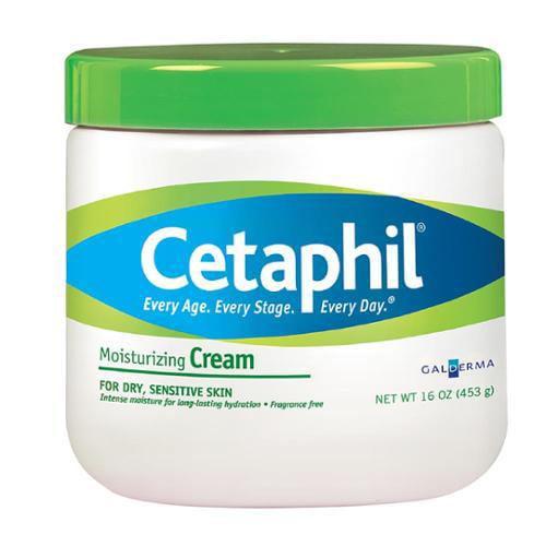 Cetaphil Moisturizing Cream for Dry/Sensitive Skin, Fragrance Free 16 oz (Pack of 3)