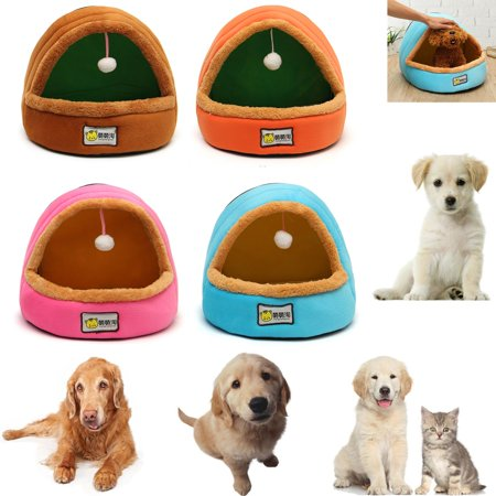 Small Size Pet Nest Dog Cat Puppy Bed Pad House Cave Winter Soft & Warm Kennel Cushion Sleeping Mat ()