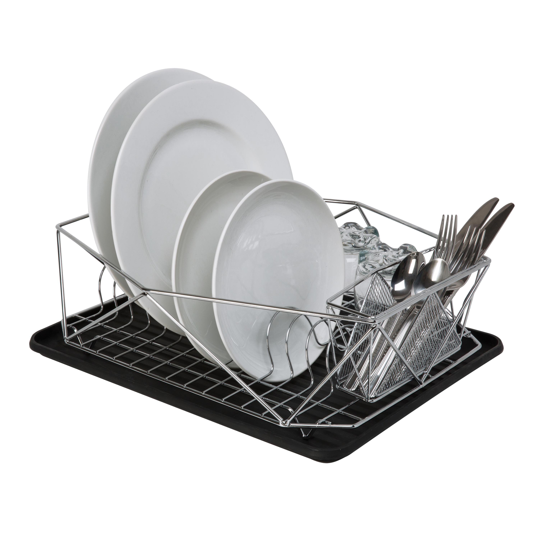 Kitchen Details Geode Dish Rack in Chrome