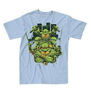 Teenage Mutant Ninja Turtles Turtle Power Mens Light Blue T-Shirt   M