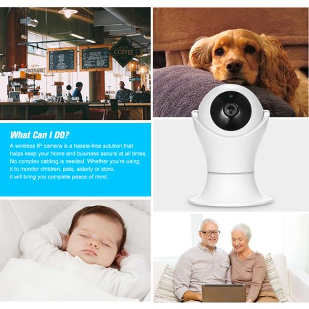 1080P WiFi IP camera 360 Degree Panoramic Navigation Pan/Tilt Wireless Camera CCTV Baby Monitor WiFi Camera for Baby/Nanny/Elder/Dog/Pets Monitoring with APP, Pan/Tilt, 2-way Audio, Motion Detection H - image 7 of 7