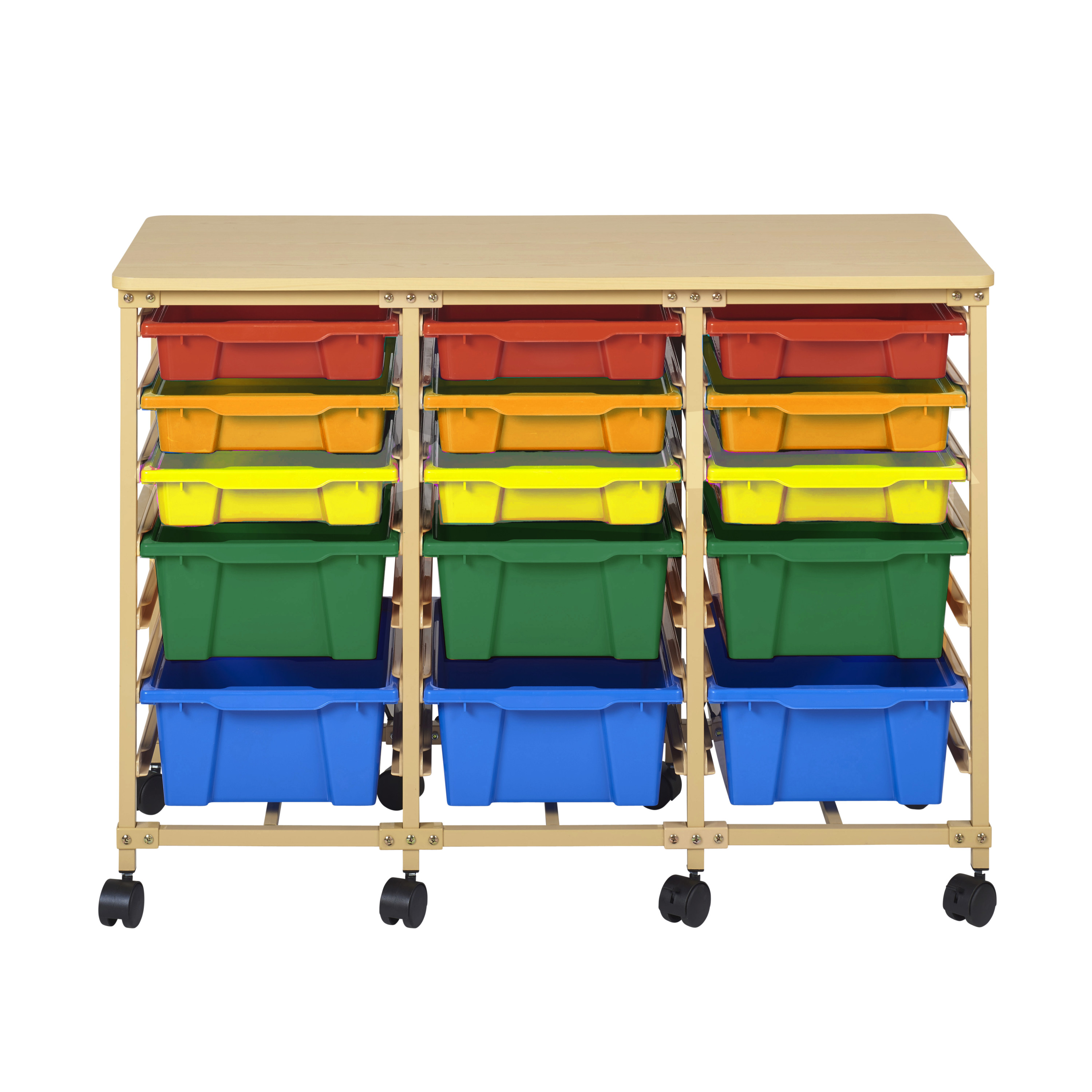 15-Tray Mobile Organizer Sand - Assorted Bins