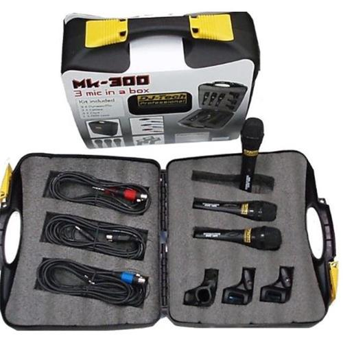 Dj Tech MK300 Professional Mic Package W  Case, Clips, & Color Coded Cables by DJ Tech