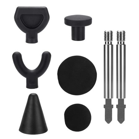 6PCS Jigsaw Massage Adapter Bit Percussion Attachment Tool for Deep Tissue Trigger Point Massage Tips with 2 Rods - image 6 of 7