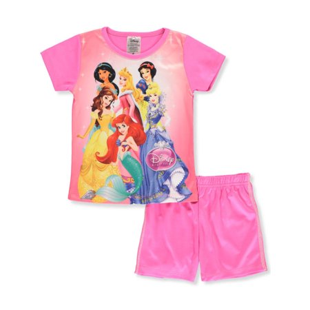 Disney Princess Girls' 2-Piece Shorts Set - Childrens Princess Outfits