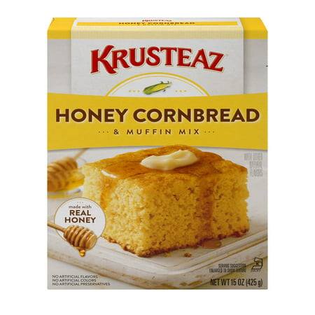 - (2 pack) Krusteaz Honey Cornbread and Muffin Mix, 15 oz