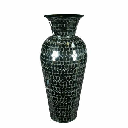Artistically Charmed Mosaic Vase Black Walmart