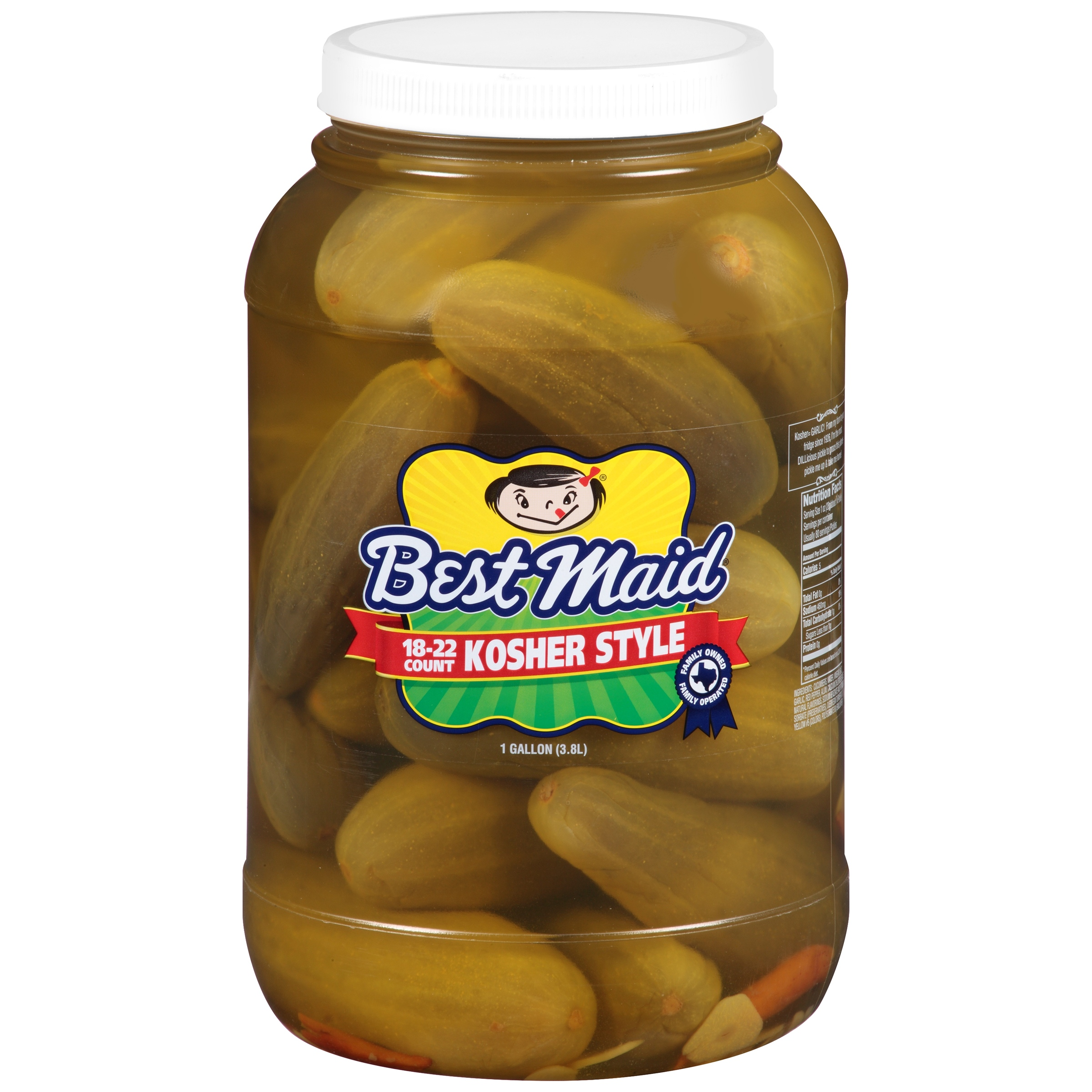 Best Maid Kosher Style Pickles 1 gal. Plastic Jar by BEST MAID PRODUCTS INC