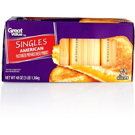 Great Value Pasteurized Prepared American Cheese Singles ...
