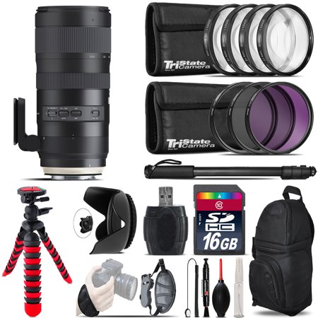 Tamron 70-200mm G2  for Nikon + Macro Filter Kit & More - 16GB Accessory