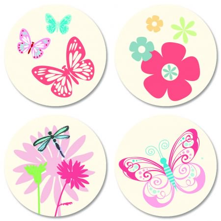Sending Sunshine Seals - Set of 24 (4 designs) sticker seals on 8-1/2