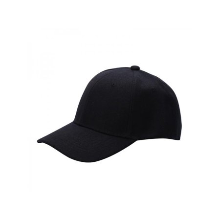 Unisex Men Women Adjustable Solid Curved Visor Sport Baseball Cap ()