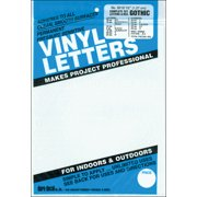 """Permanent Adhesive Vinyl Letters & Numbers .5"""" 852/Pkg-White"""