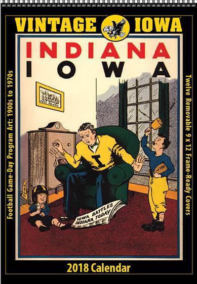 Vintage Iowa Hawkeyes 2018 College Football Calendar: Football ...