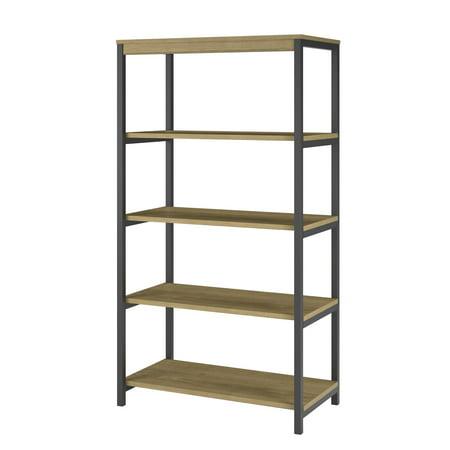 Ameriwood Home Nickle Creek 5 Shelf Bookcase Golden Oak