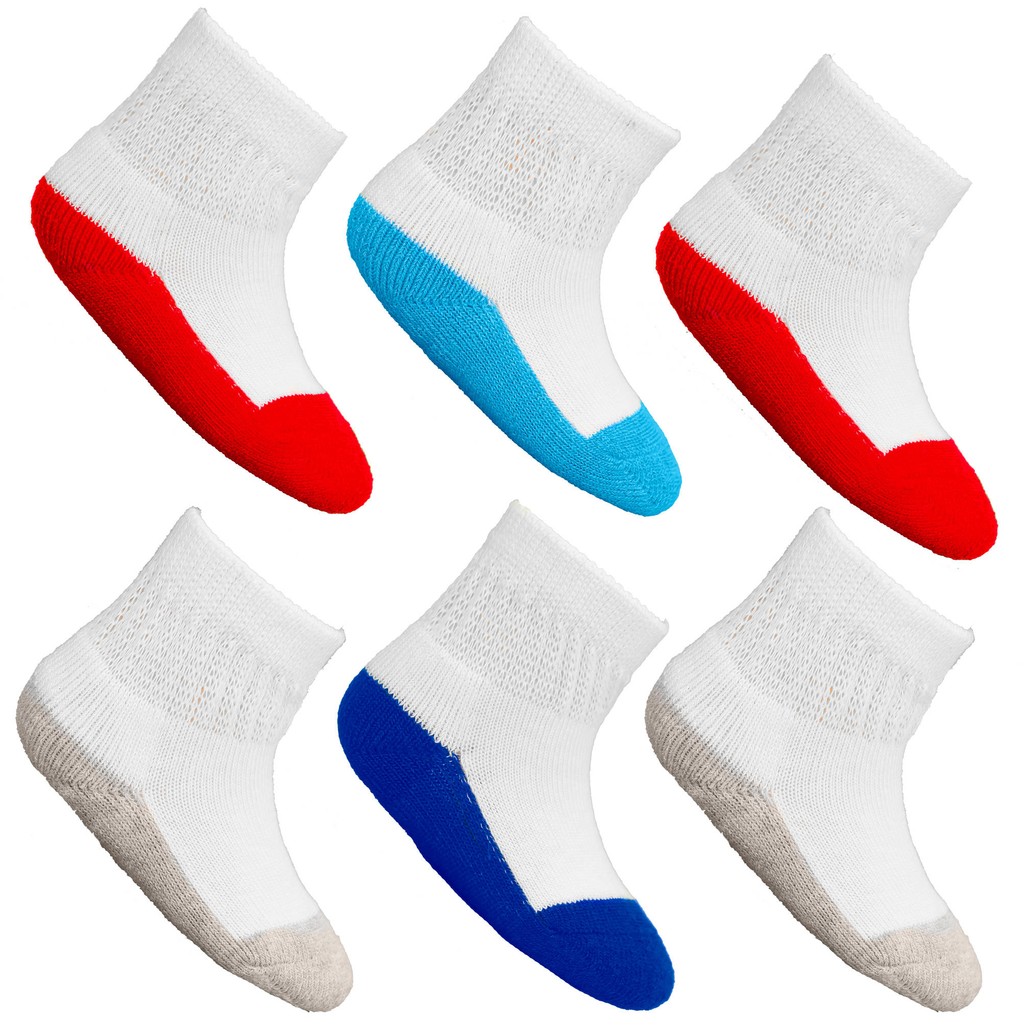 Fruit of the Loom Value Pack Baby Boys Ankle Socks - 6 Pairs