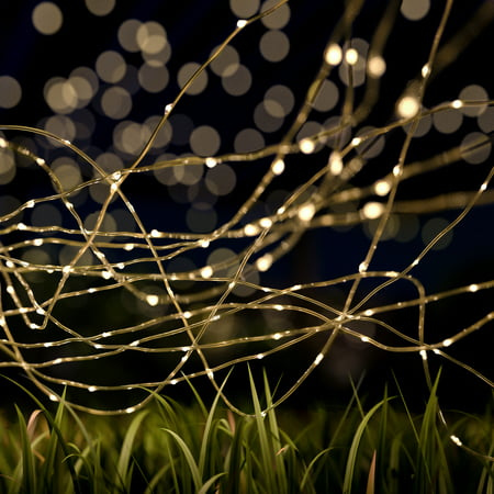 Outdoor Starry Solar String Lights- Solar Powered Warm White Fairy 100 LED Lights with 8 Lighting Modes for Patio, Backyard, Events by Pure Garden ()