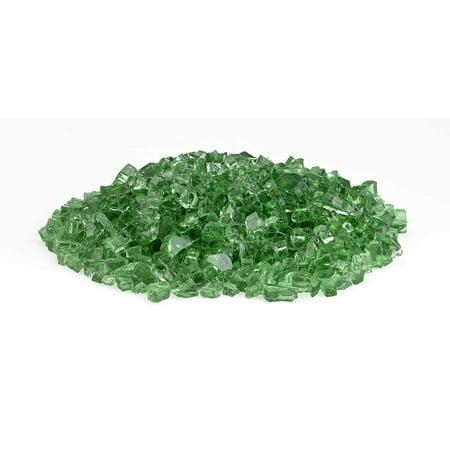 HPC 1/4 Inch Decorative Fire Glass, 10 Pounds, Evergreen