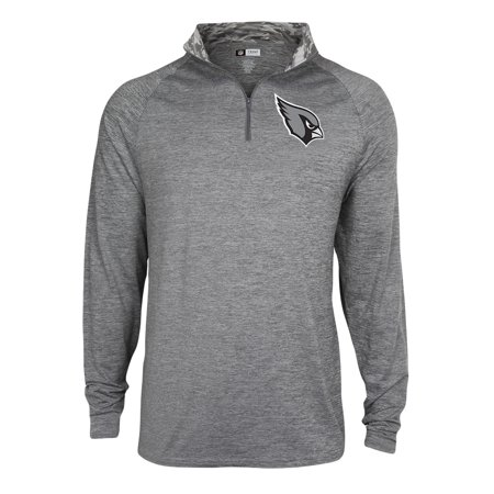 Football Jacket - Men's Gray Arizona Cardinals Space Dye Quarter-Zip Jacket