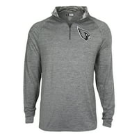 Men's Gray Arizona Cardinals Space Dye Quarter-Zip Jacket