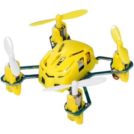 Hubsan Q4 H111 Nano Mini 4-Channel RC Quadcopter Flying Drone with 2.4GHz Radio System, Yellow