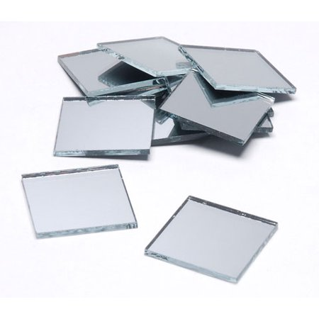 Floral Mirror Square 1 Inch 10 Pieces (Mirror Arts And Crafts)
