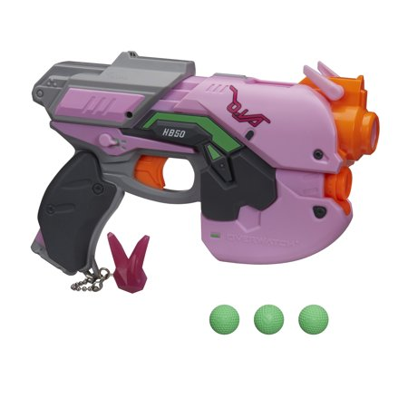 NERF Overwatch D.Va Rival Blaster with 3 OverWatch Nerf Rival Rounds