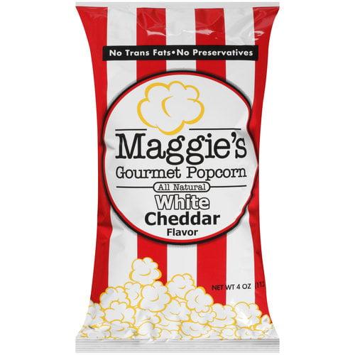 Maggie's Gourmet Popcorn White Cheddar Flavor Popcorn, 4 oz