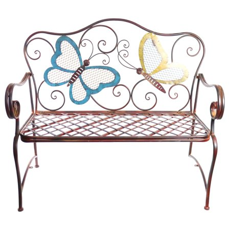 Outstanding Alpine Corporation Butterfly Garden Bench Outdoor Decor Bronze Pabps2019 Chair Design Images Pabps2019Com