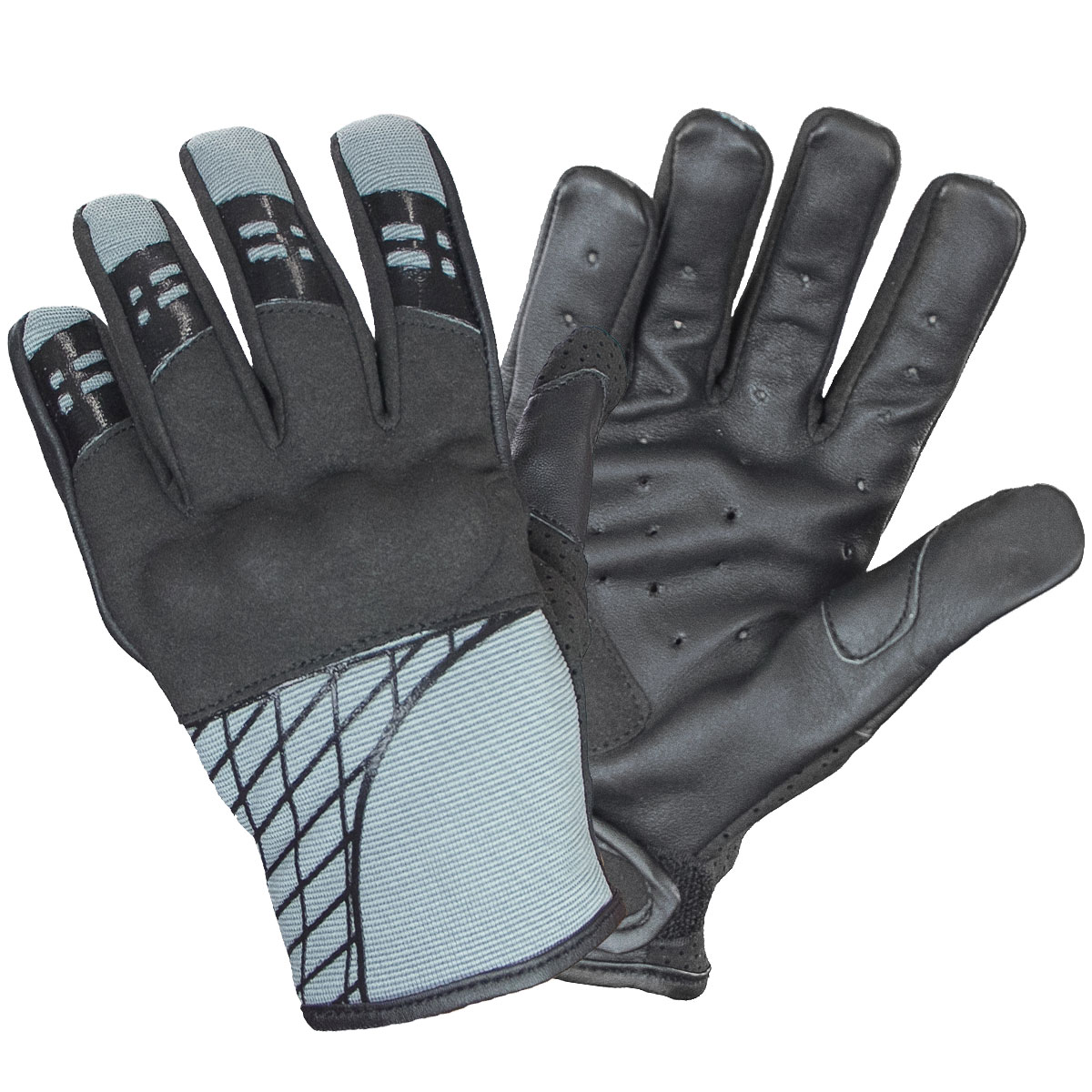 Xelement UK264118 Express Mens Slate Gray Textile/Leather Gloves