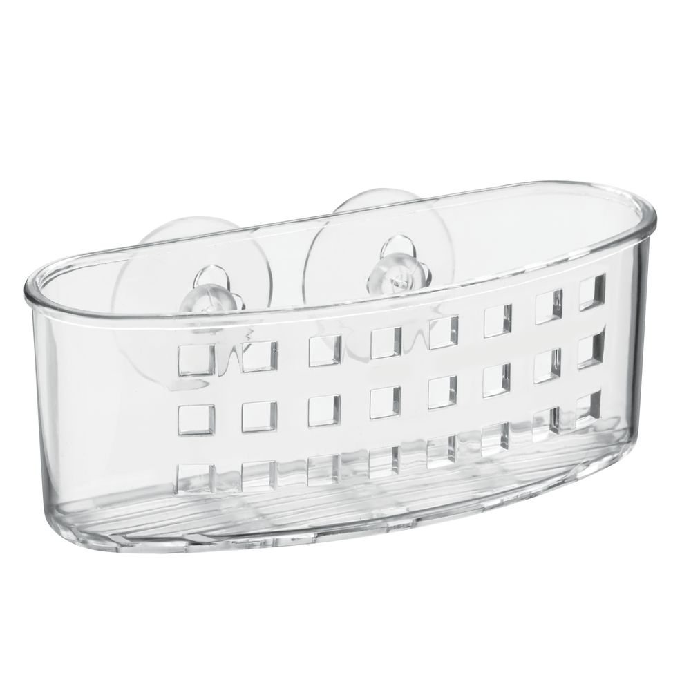 Suction Bathroom Caddy for Soaps, Loofa's, Sponges-Clear, Holes on bottom allow water to... by
