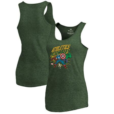 Oakland Athletics Fanatics Branded Women s Marvel Avengers Assemble  Tri-Blend Tank Top - Green - Walmart.com 4b6c1a43c