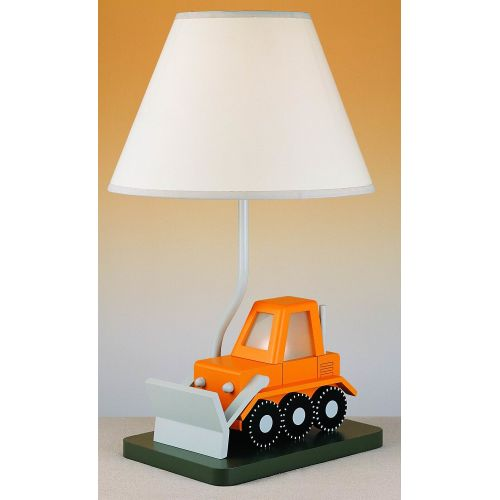 "Cal Lighting BO-5667 67 Watt 21"" Kids   Youth Wood Bulldozer Table Lamp with On Off Switch and Night... by Cal Lighting"