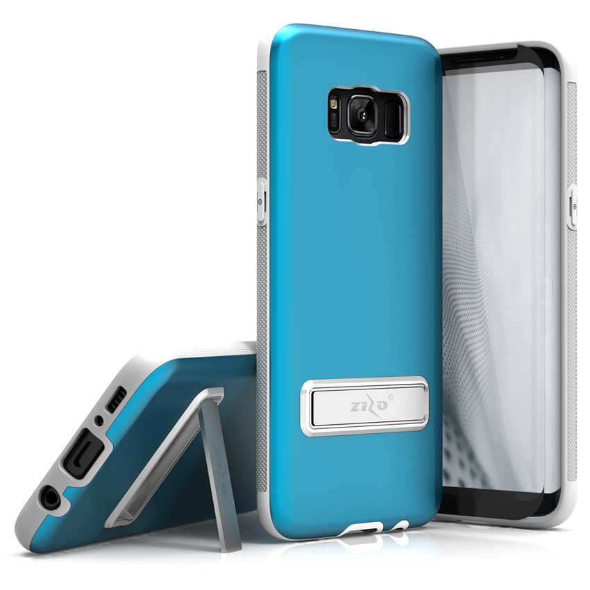 Samsung Galaxy S8/S8 Plus Case, Zizo Elite Cover w/ Magnetic Kickstand and Glass