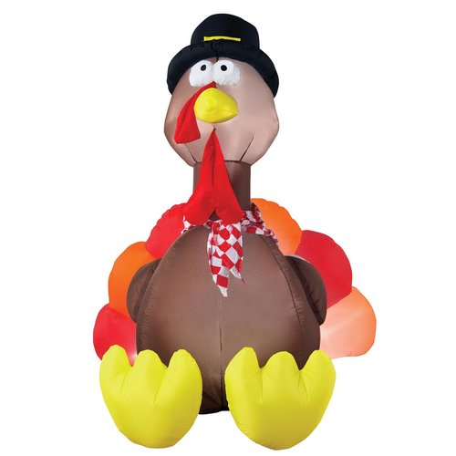 The Holiday Aisle Lighted Thanksgiving Turkey Outdoor Inflatable