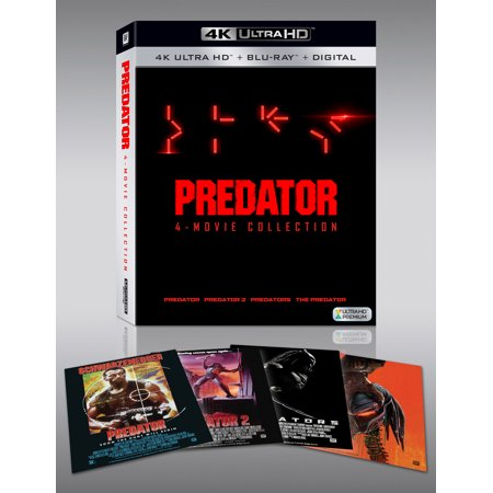 Predator 1-4 (4 Movie Collection) (4K Ultra HD + Blu-ray + Digital - Halloween 4 Full Movie Hd