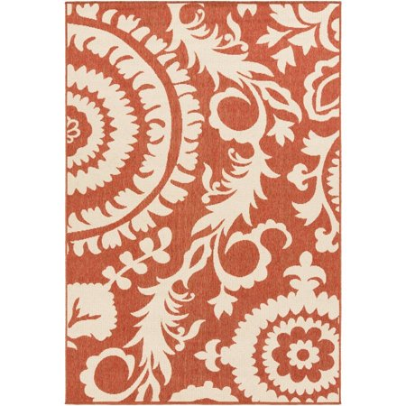 surya big pine floral indoor outdoor rug (Green Bamboo Rug)