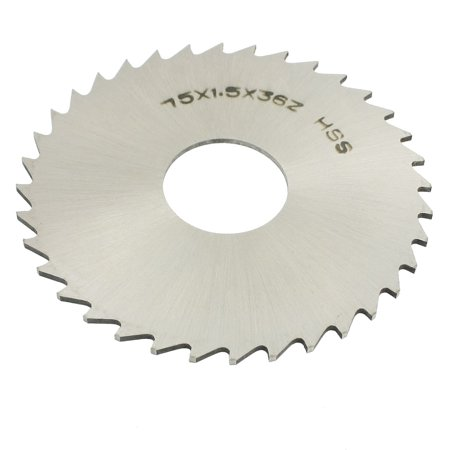 Slitting Slotting Saw Mill Cutter Disc HSS 75mm x 1.5mm x 22mm 36 Teeth - image 1 of 1