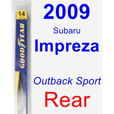 2009 Subaru Impreza (Outback Sport) Rear Wiper Blade - Rear
