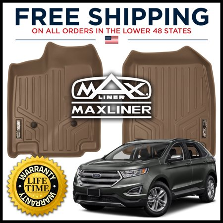 Maxliner 2011-2014 Ford Edge Lincoln MKX Floor Mats First Row Set Tan A1118 2007 Tan 1st Row