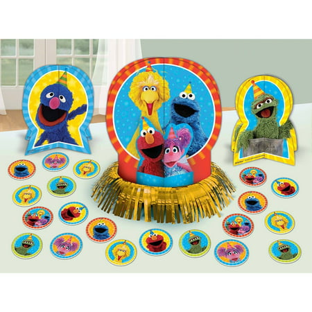 Sesame Street Buckets (Sesame Street 2 Table Decorating)