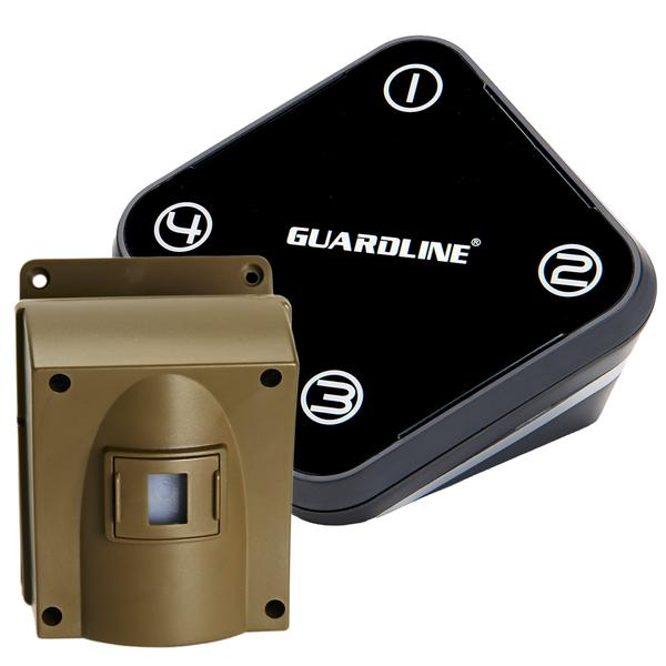Wireless Driveway Alarm. Professional Outdoor Motion Sensor & Detector Alert System.